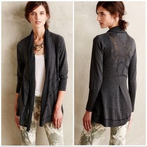 Anthropologie Charcoal Composition Cardigan M